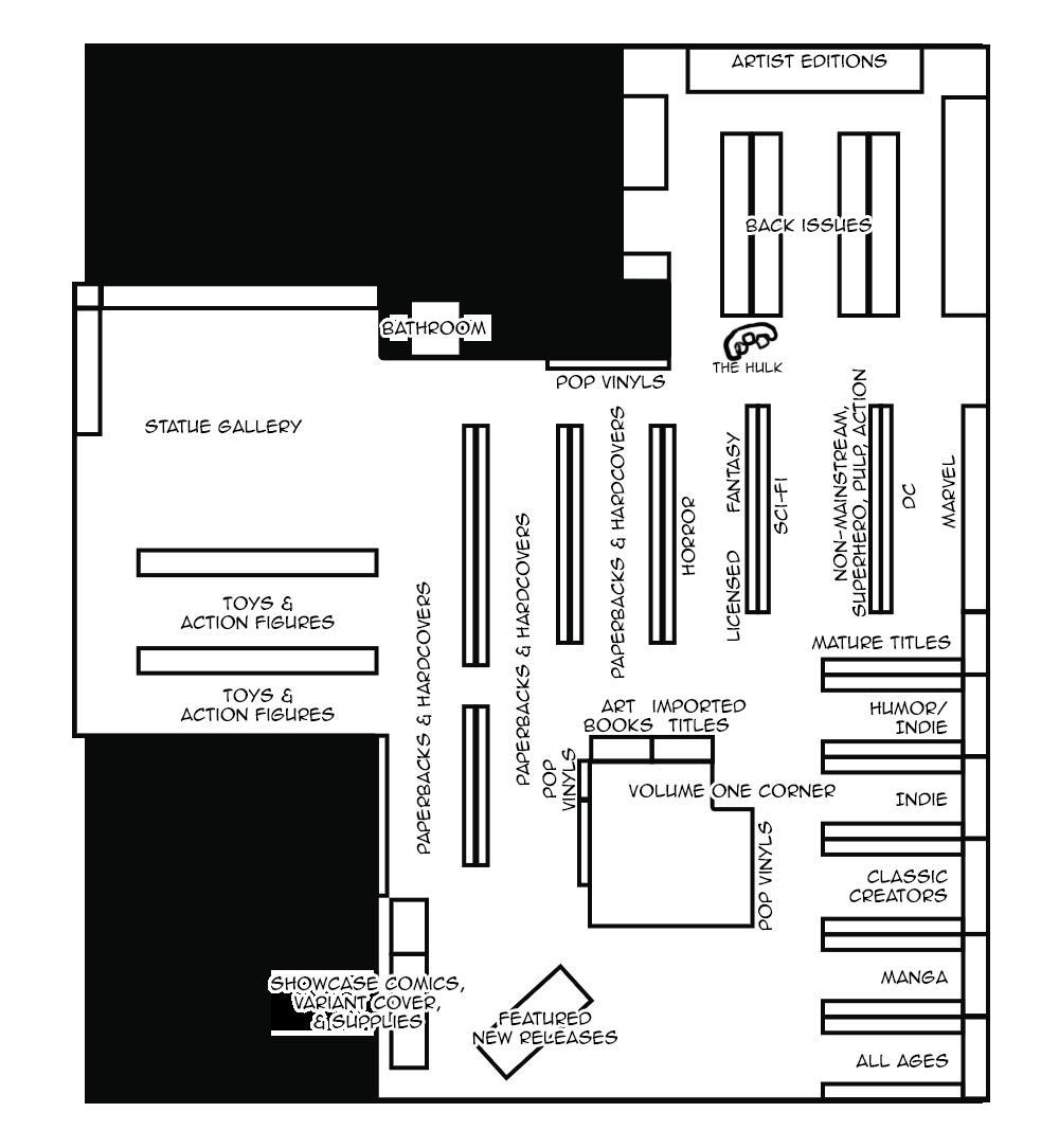 Austin Books & Comics Store Map