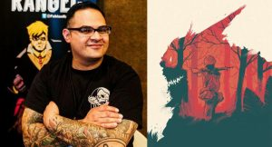 'Namwolf #1 signing with Fabian Rangel Jr @ Austin Books & Comics