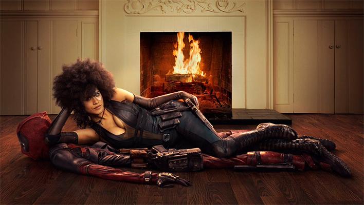 Zazie Beetz as Domino in Deadpool 2