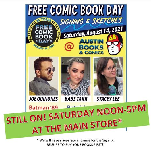 Free Comic Book Day 2021 at Austin Books & Comics